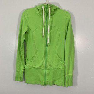 Lululemon Lime Green Swiftly Zip Up Active Hoodie